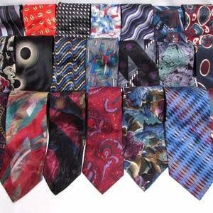 NEW Lot of 6 Men's Name Brand 100% Silk LONG Ties